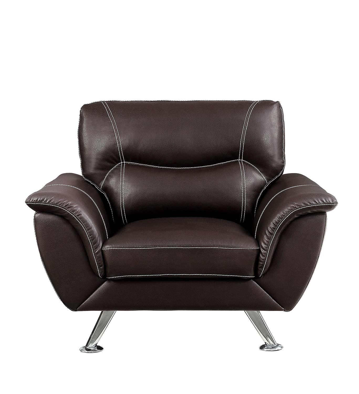 Homelegance Jambul Chair - Dark Brown - Dark brown bi-cast vinyl