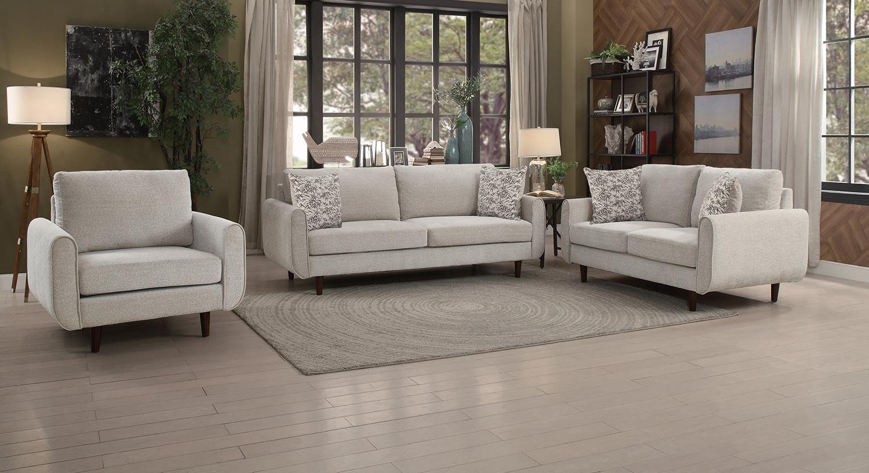 Homelegance Wrasse Sofa Set - Sand Fabric