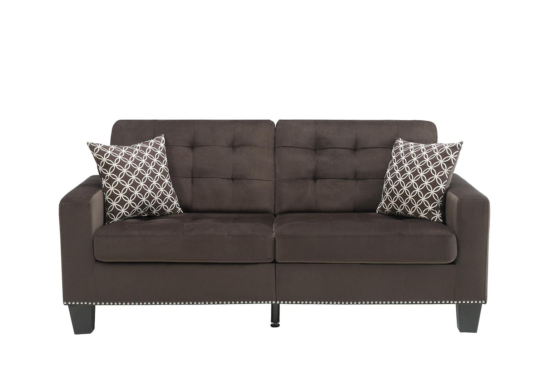 Homelegance Lantana Sofa - Chocolate and Gray