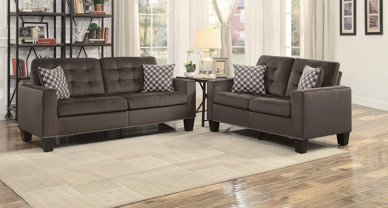 Homelegance Lantana Sofa Set - Chocolate and Gray