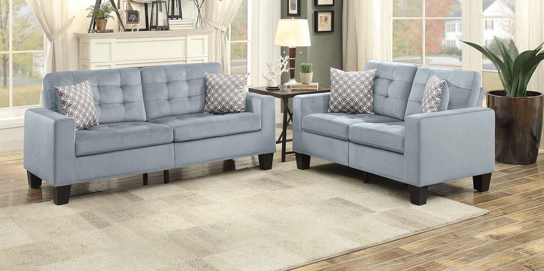 Homelegance Lantana Sofa Set - Gray