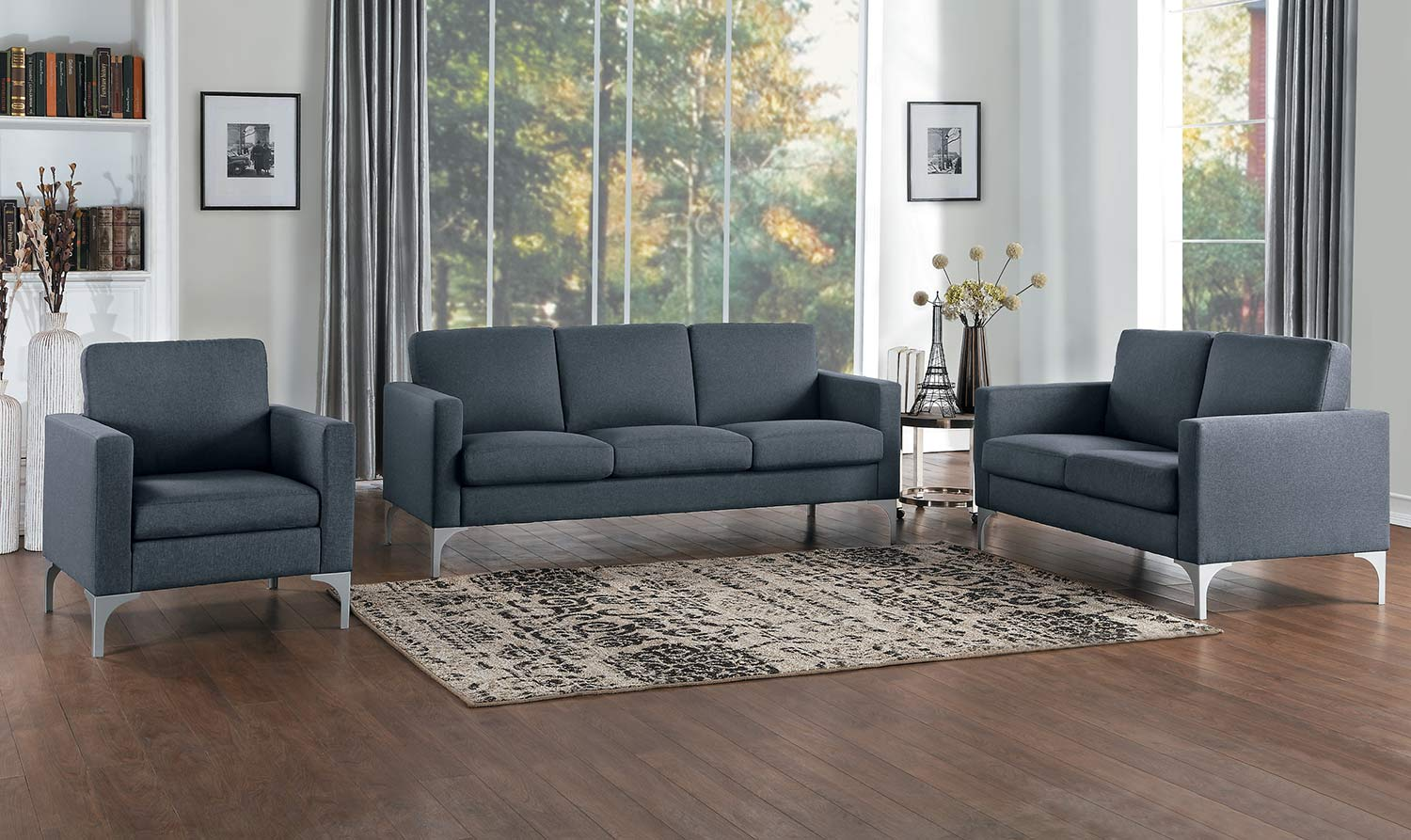 Homelegance Soho Sofa Set   Dark Gray   Brownish Gray