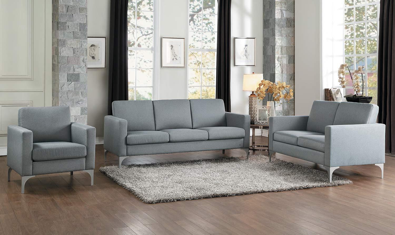 Homelegance Soho Sofa Set - Light Gray