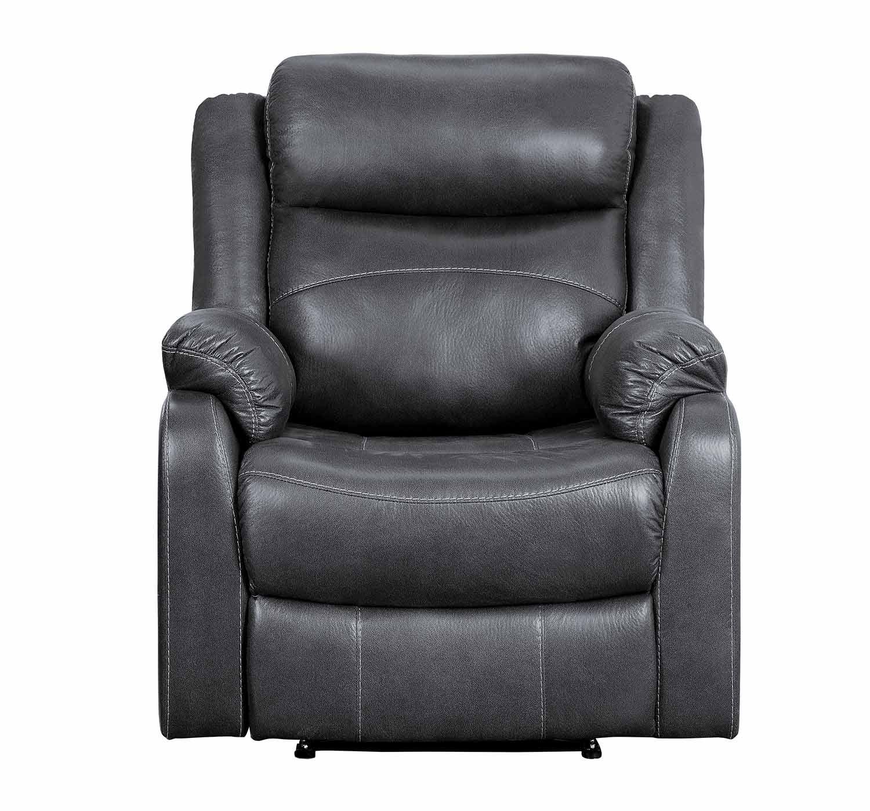 Homelegance Yerba Lay Flat Reclining Chair - Dark Gray