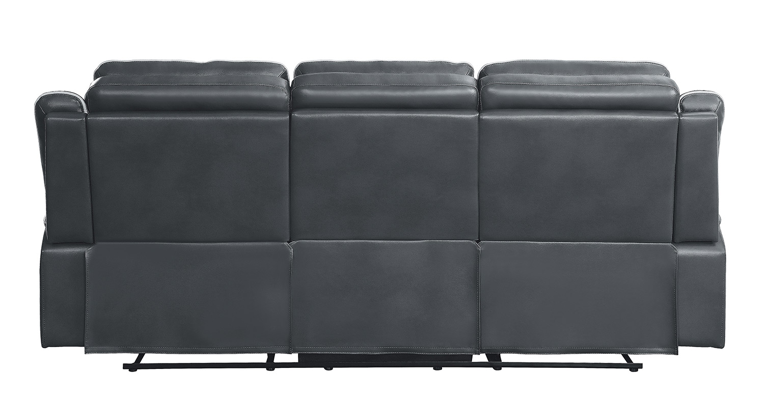 Homelegance Darwan Double Lay Flat Reclining Sofa - Dark Gray