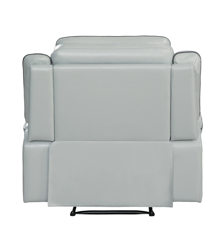 Homelegance Darwan Lay Flat Reclining Chair - Light Gray