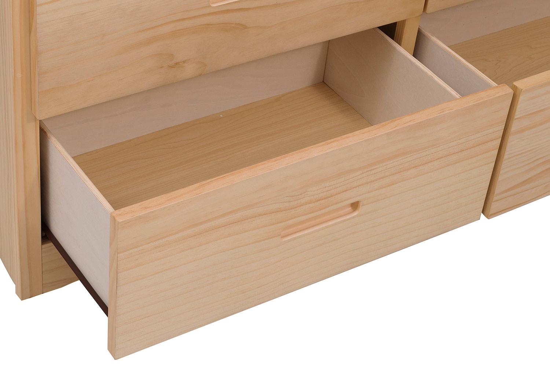 Homelegance Bartly Dresser - Natural Pine