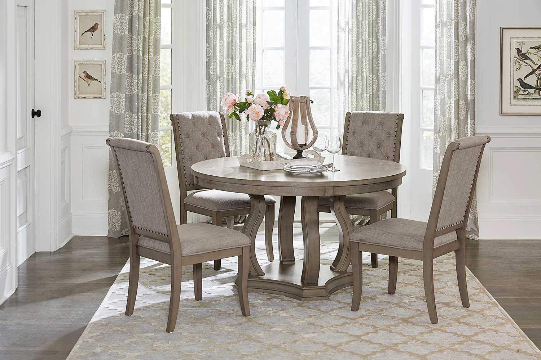 Homelegance Vermillion Round Dining Set - Bisque