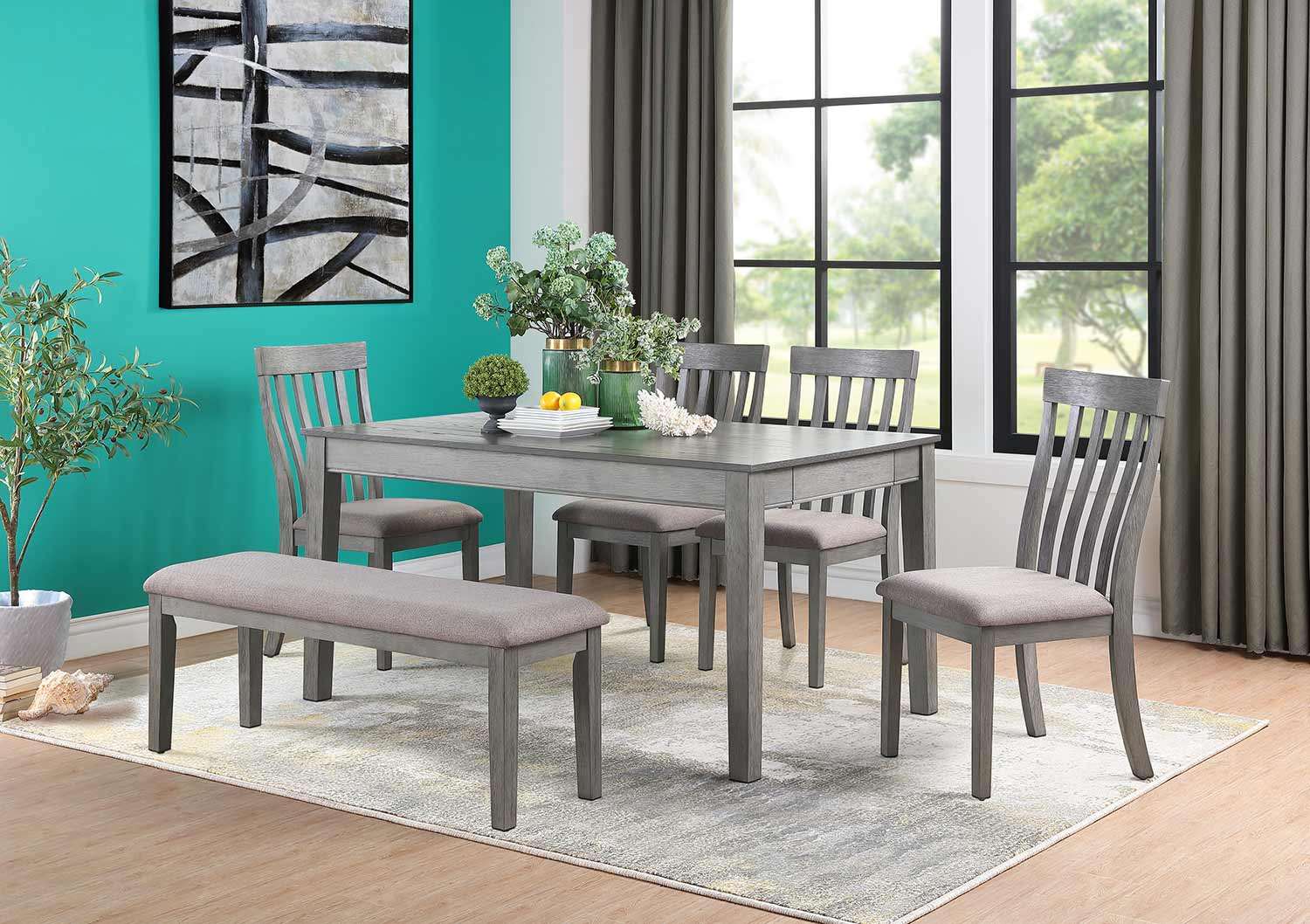 Homelegance Armhurst Dining Set - Gray