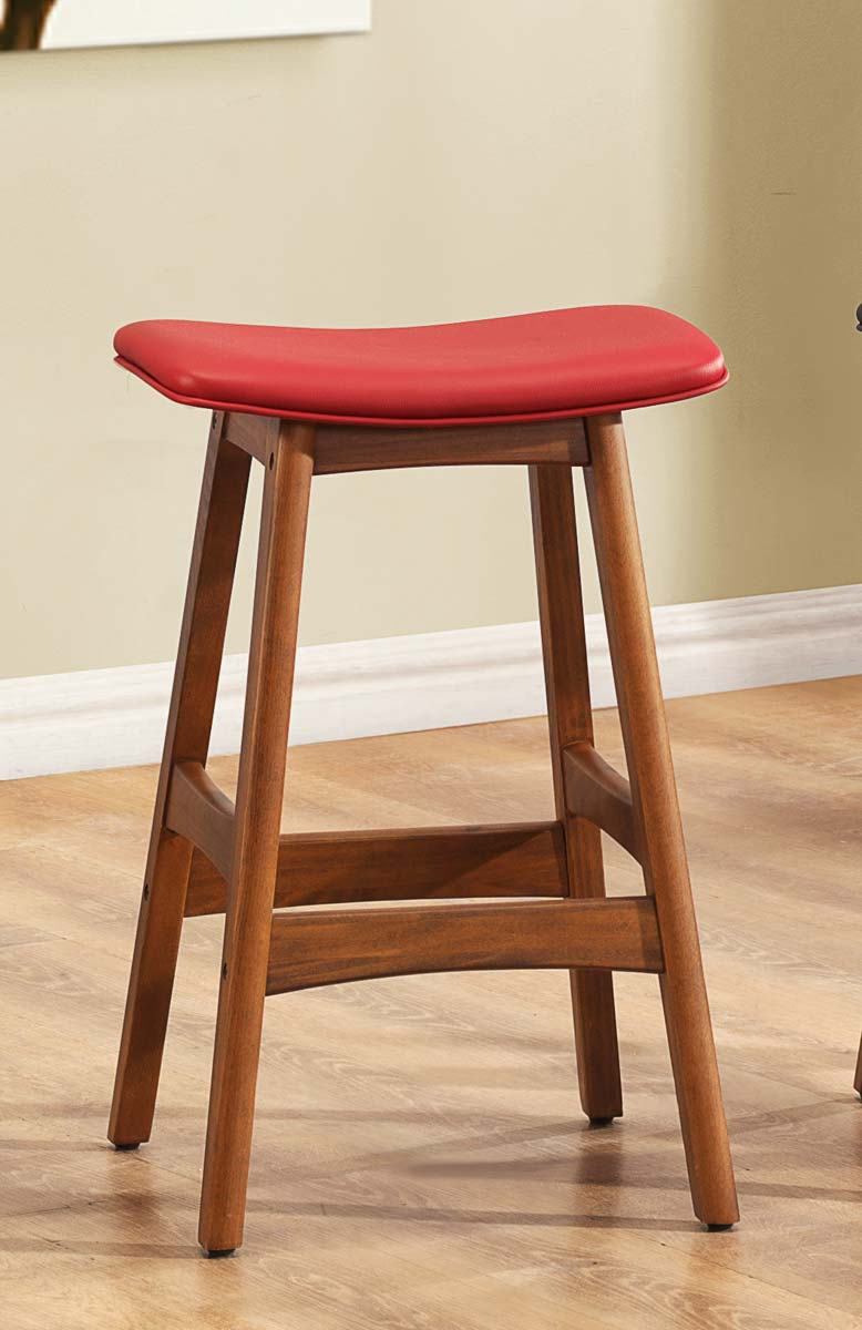 Homelegance 1188 Counter Stool - Red