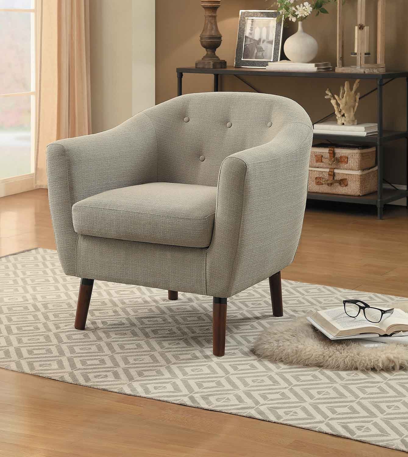 Homelegance Lucille Accent Chair - Beige