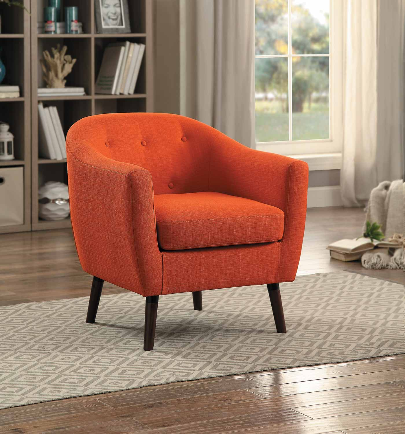 homelegance lucille accent chair orange