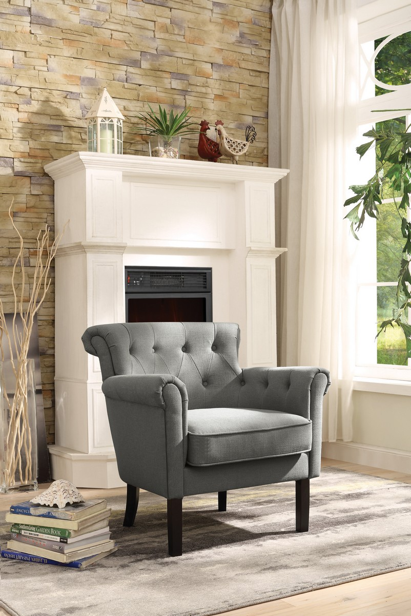 Homelegance Barlowe Accent Chair - Grey