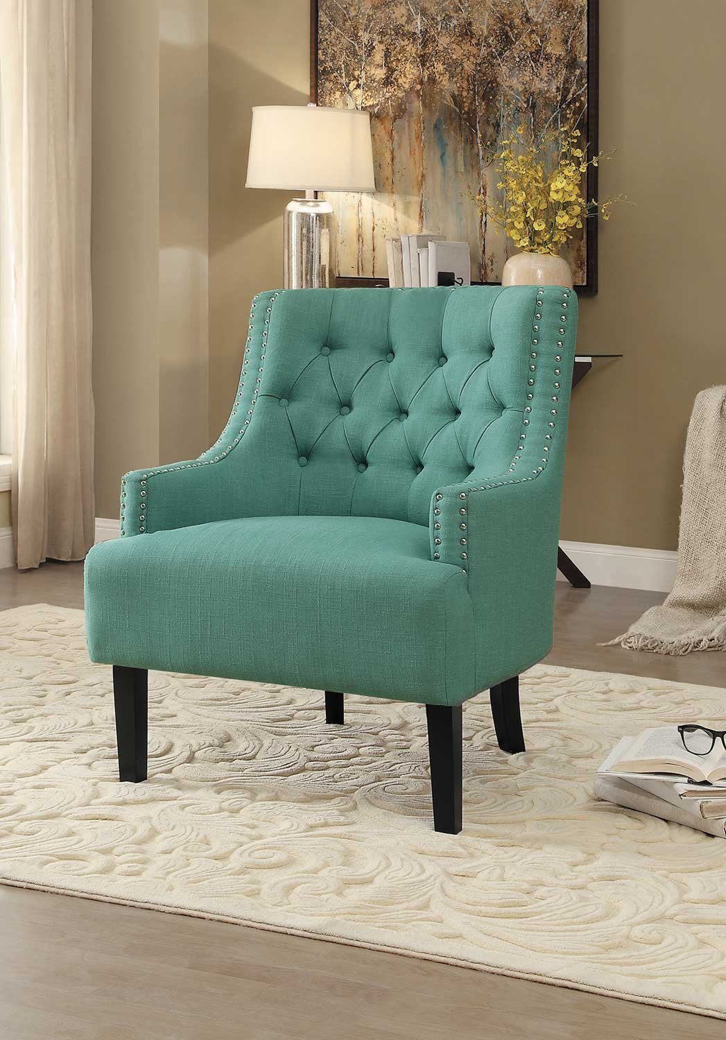 Homelegance Charisma Accent Chair - Teal