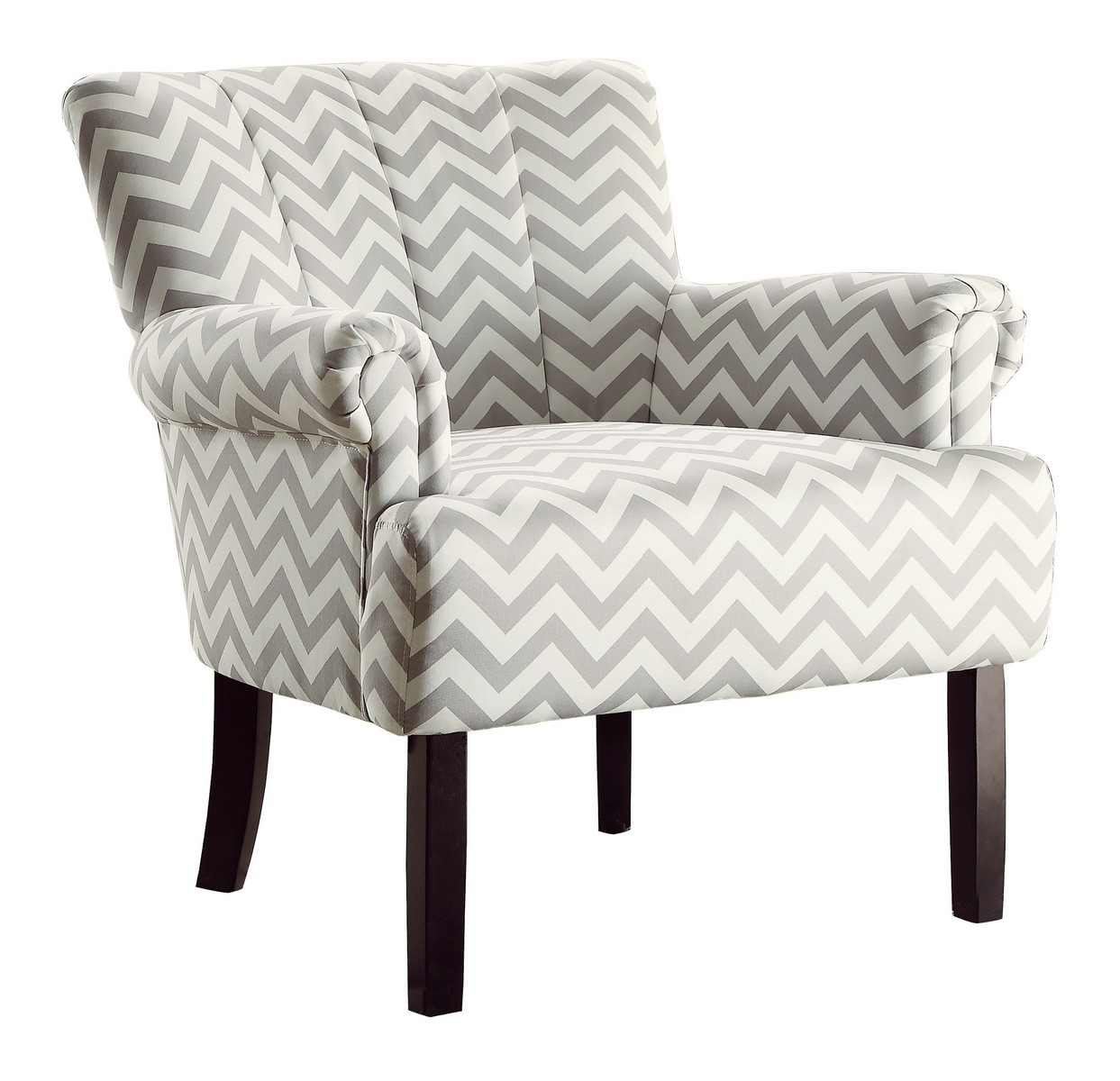 Homelegance Langdale Accent Chair - Grey Chevron