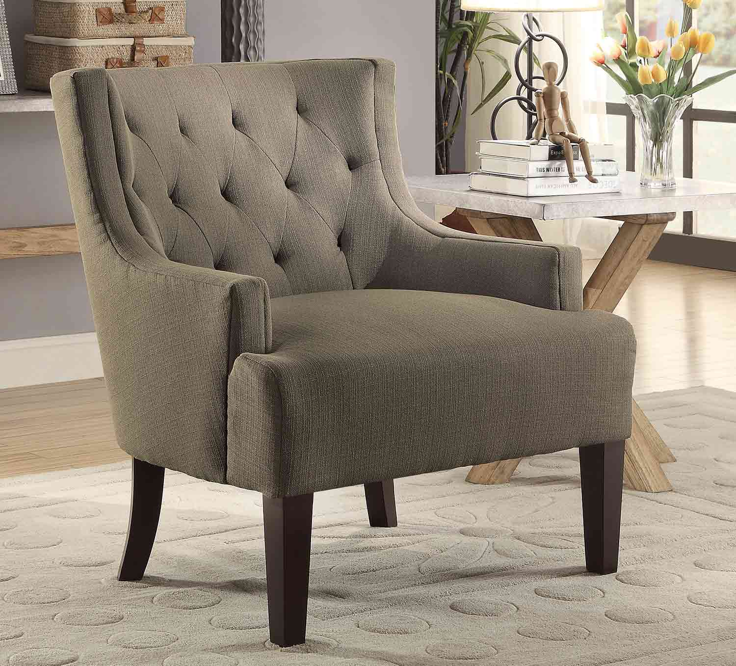 Homelegance Dulce Accent Chair Grey 1233GY