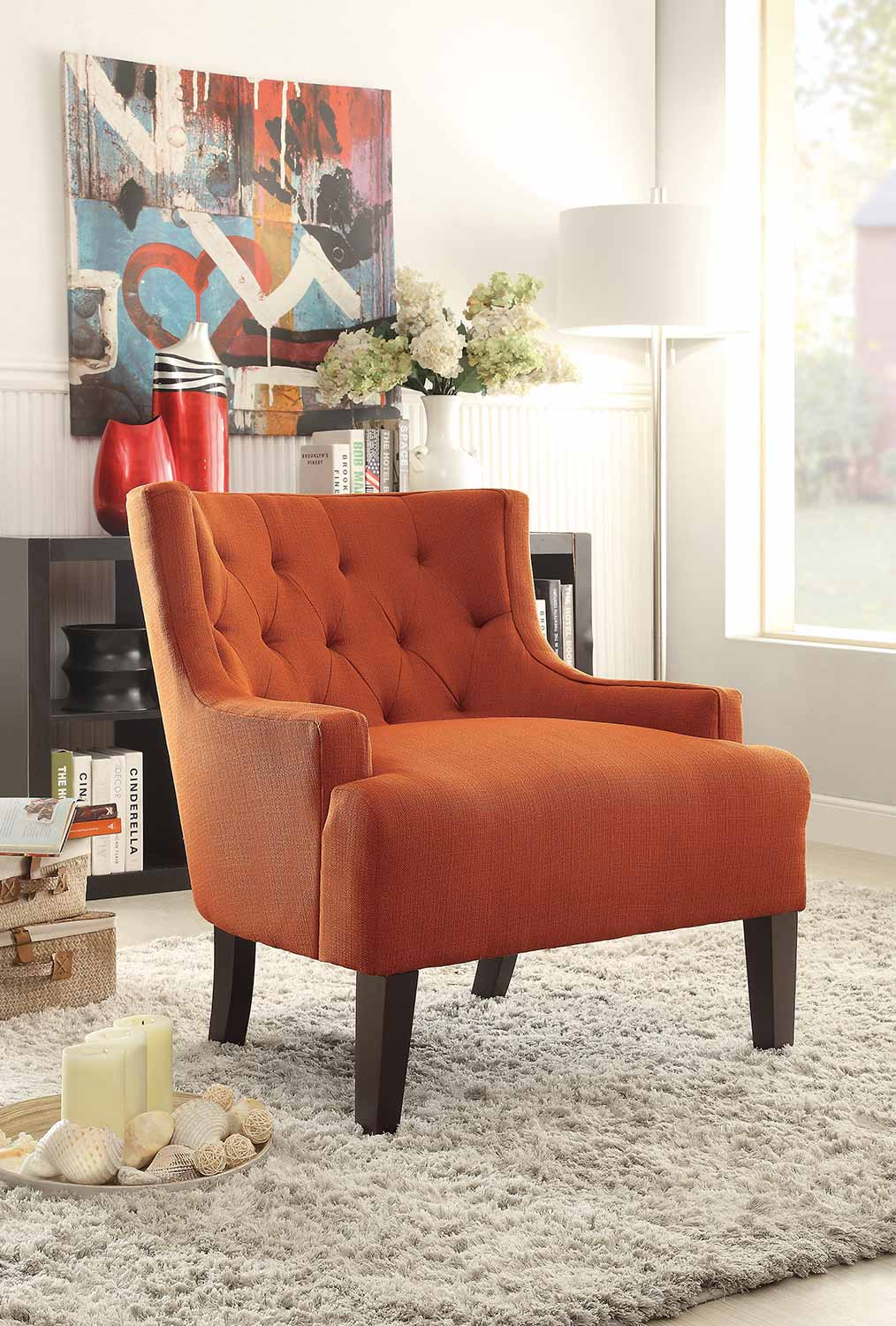 Homelegance Dulce Accent Chair - Orange