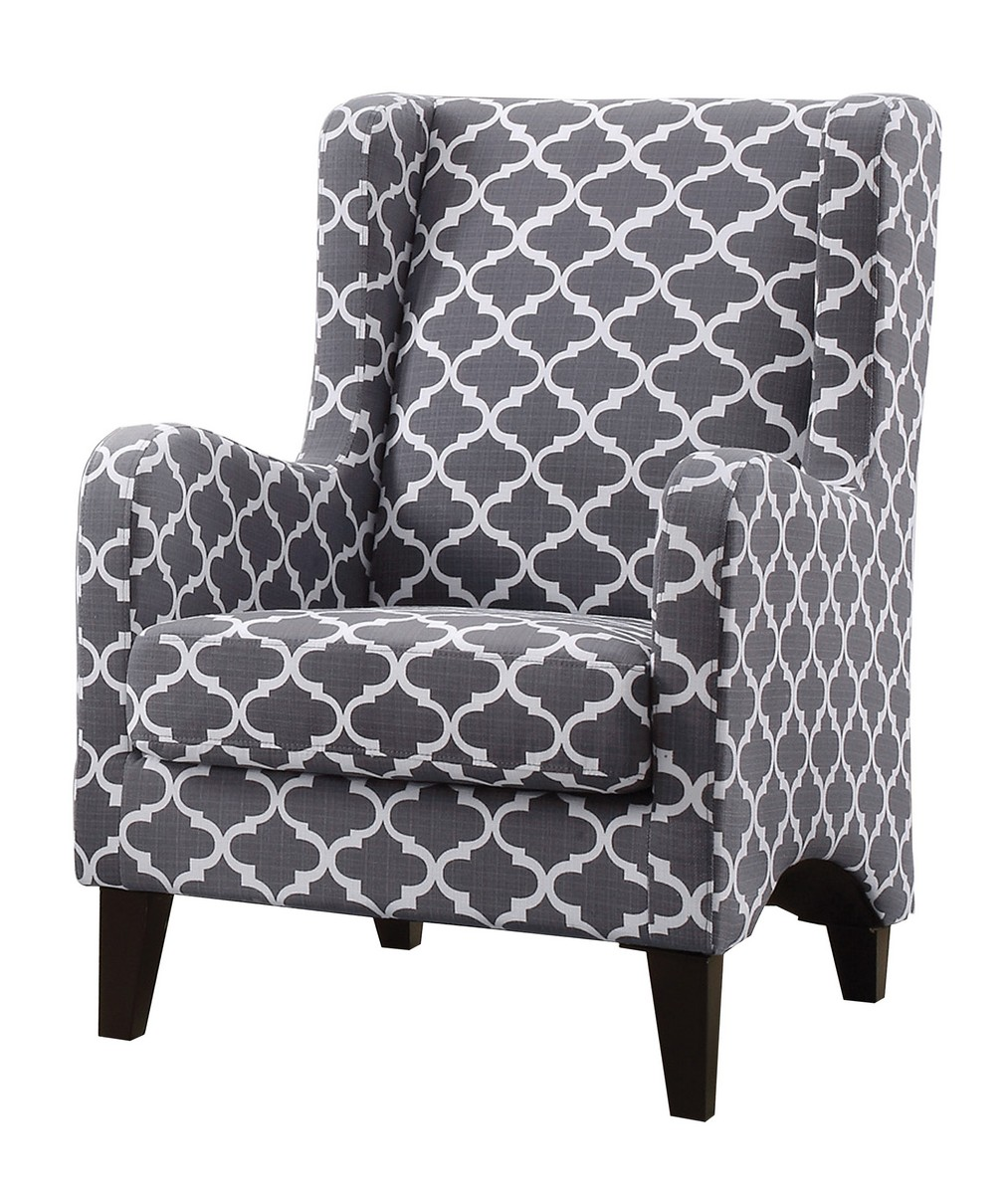 Homelegance Adlai Accent Chair   Grey