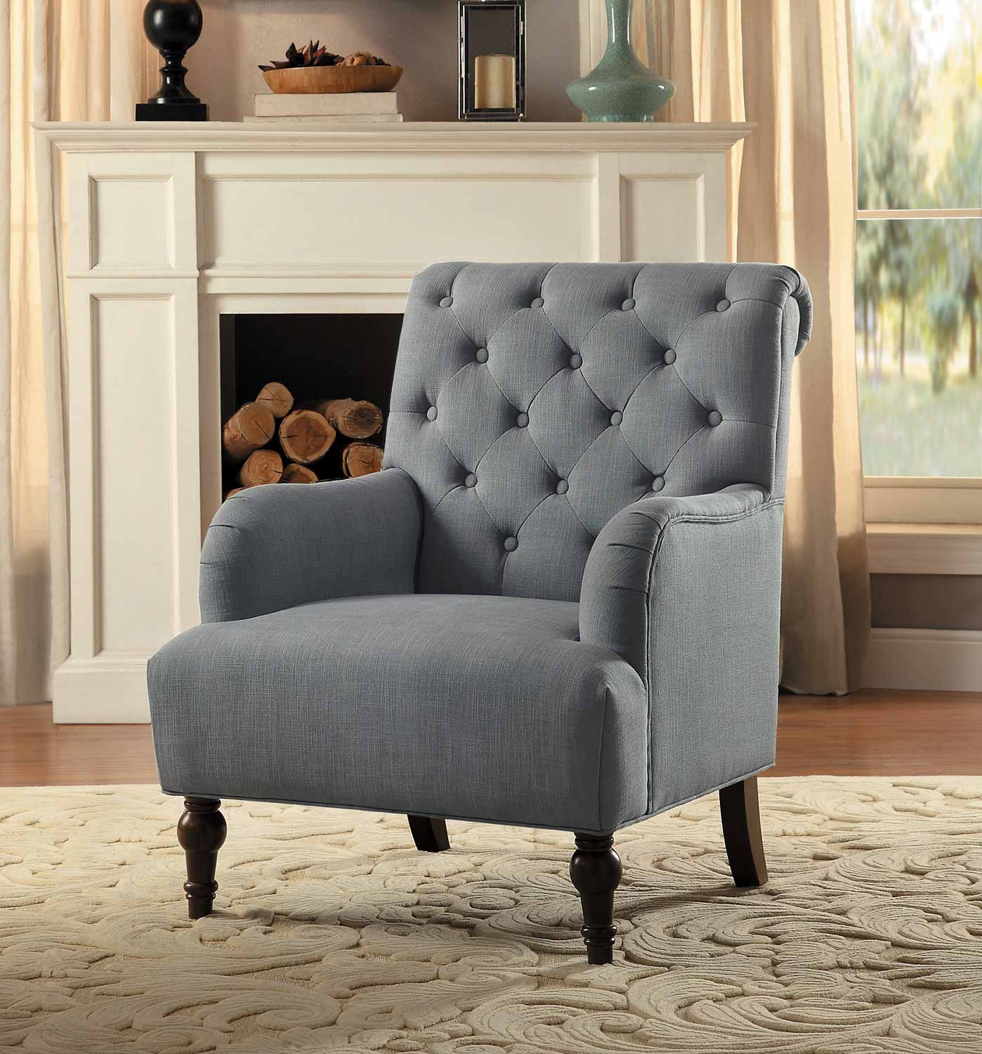 Homelegance Cotswold Accent Chair Gray 1280GY