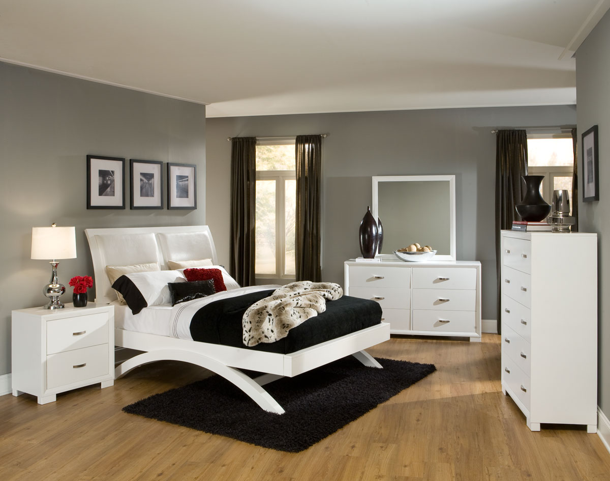 homelegance astrid bedroom set - white b1313w