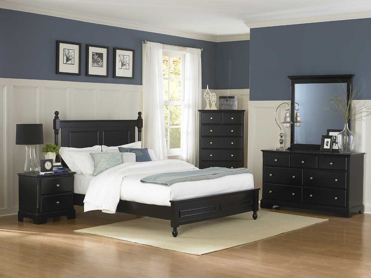 Homelegance morelle bedroom set black b1356bk for Master bedroom furniture