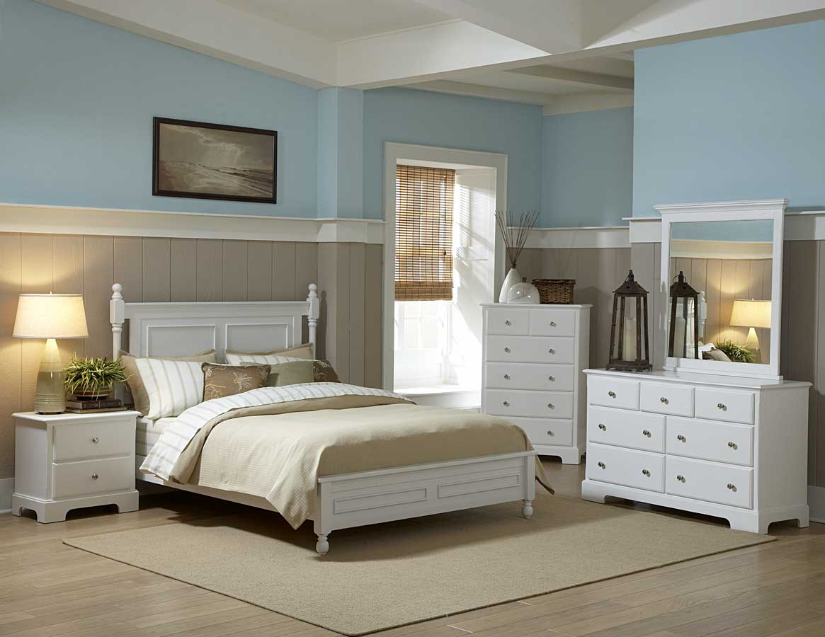 Homelegance morelle bedroom set white b1356w for White bedroom furniture set