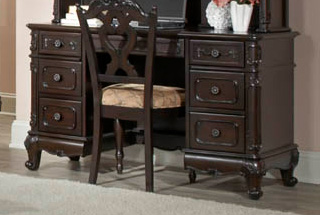 Homelegance Cinderella Writing Desk - Dark Cherry