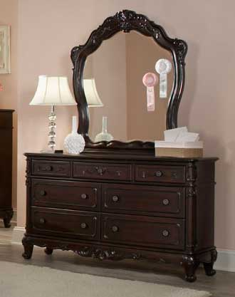 Homelegance Cinderella Mirror - Dark Cherry
