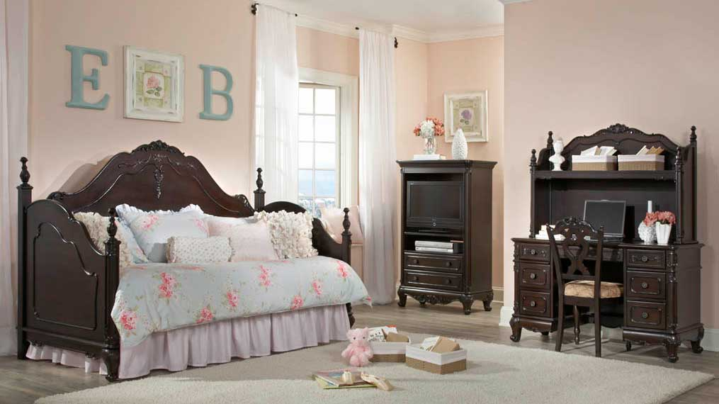 Beautiful Homelegance Cinderella Bedroom Set   Dark Cherry