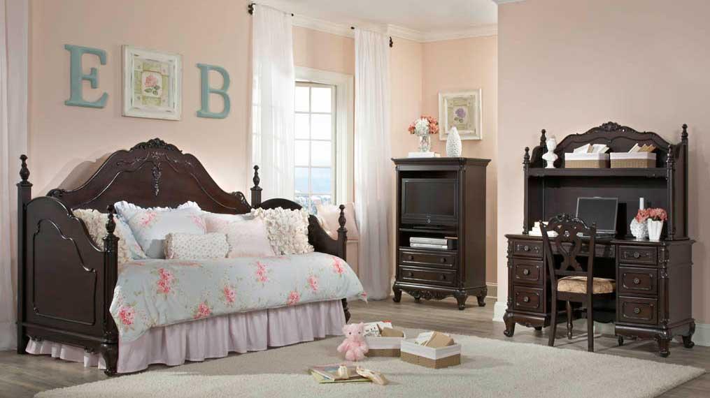 Homelegance Cinderella Bedroom Set - Dark Cherry