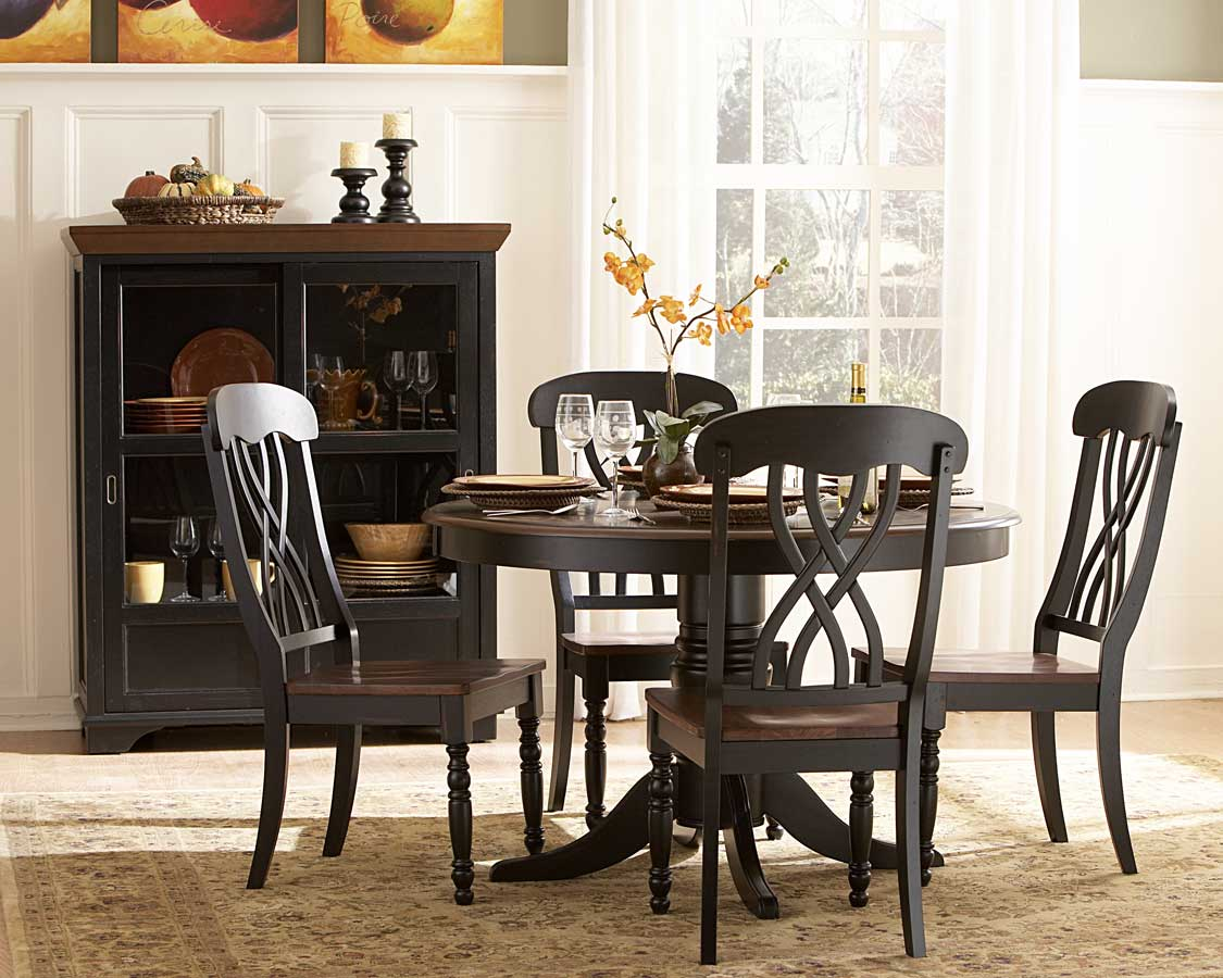 Homelegance Ohana Round Dining Set - Black
