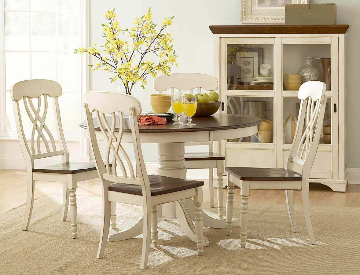 Homelegance Ohana Round Dining Set - White