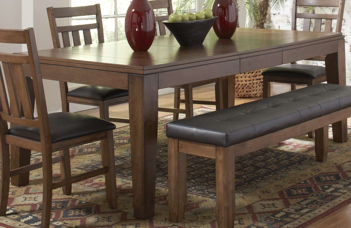 homelegance kirtland dining table with butterfly leaf 1399-83