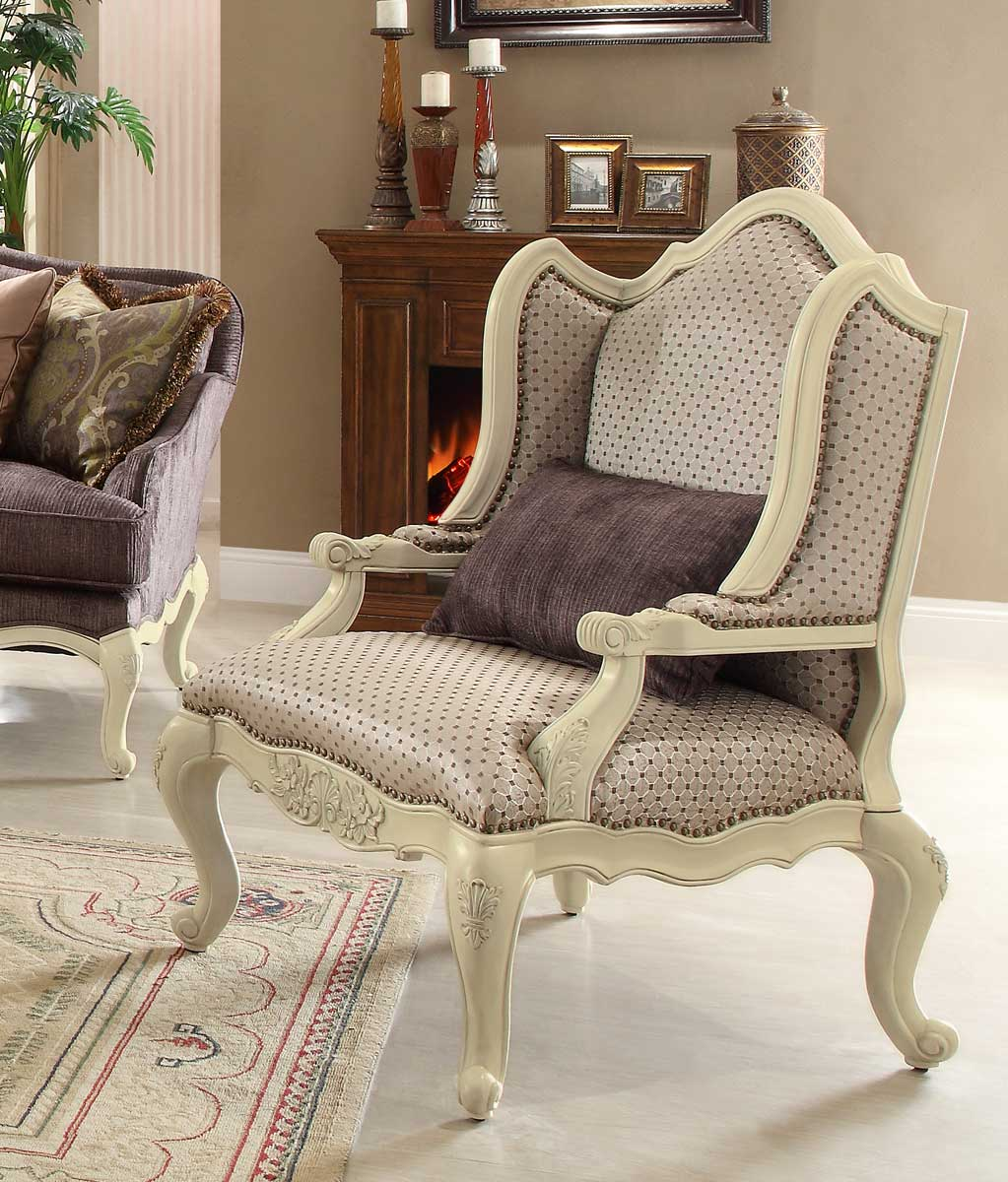 Homelegance Casanova II Accent chair - Antique White