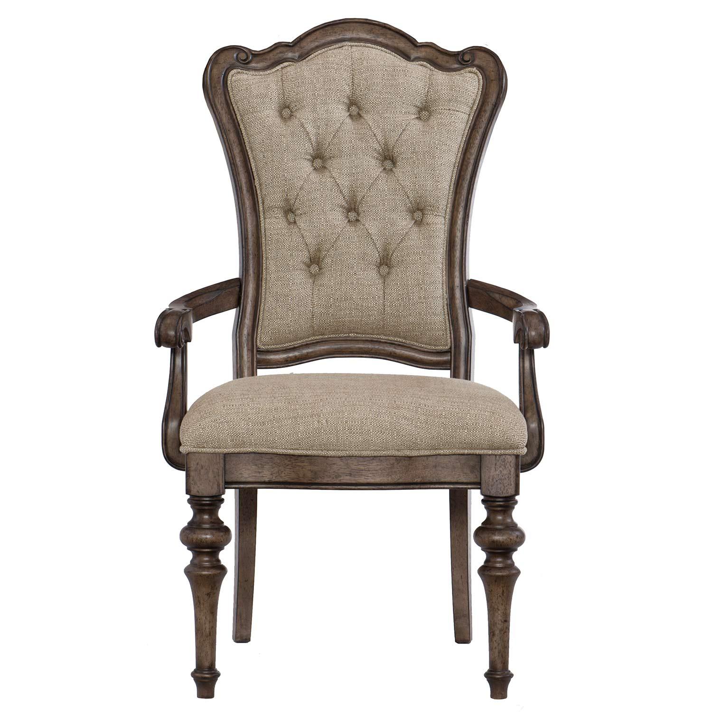 Homelegance Heath Court Arm Chair - Brown Oak