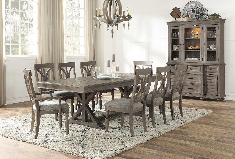 Homelegance Cardano Rectangular Dining Set - Driftwood Light Brown