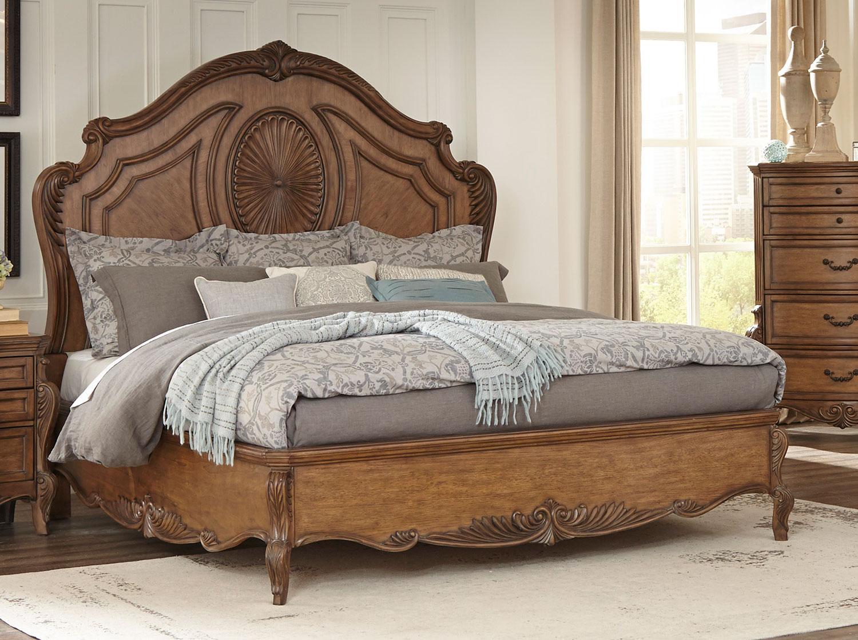 Homelegance Moorewood Park Low Profile Bed - Pecan