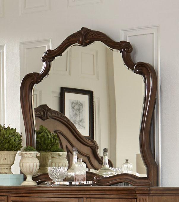 Homelegance Moorewood Park Mirror - Pecan