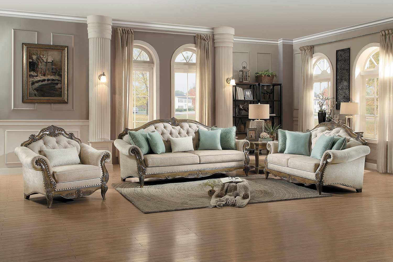 Homelegance Moorewood Park Sofa Set - Natural Tone Fabric