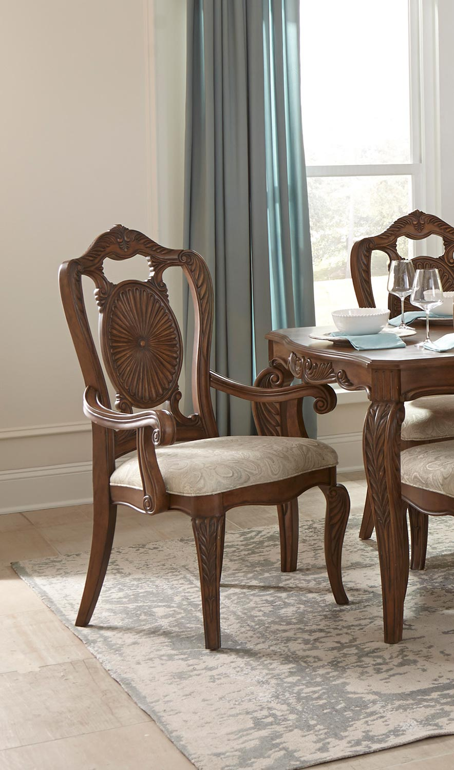 Homelegance Moorewood Park Arm Chair - Pecan
