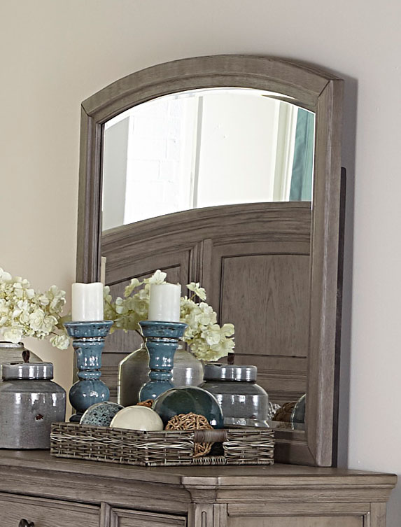 Homelegance Lavonia Mirror - Wire-brushed Gray