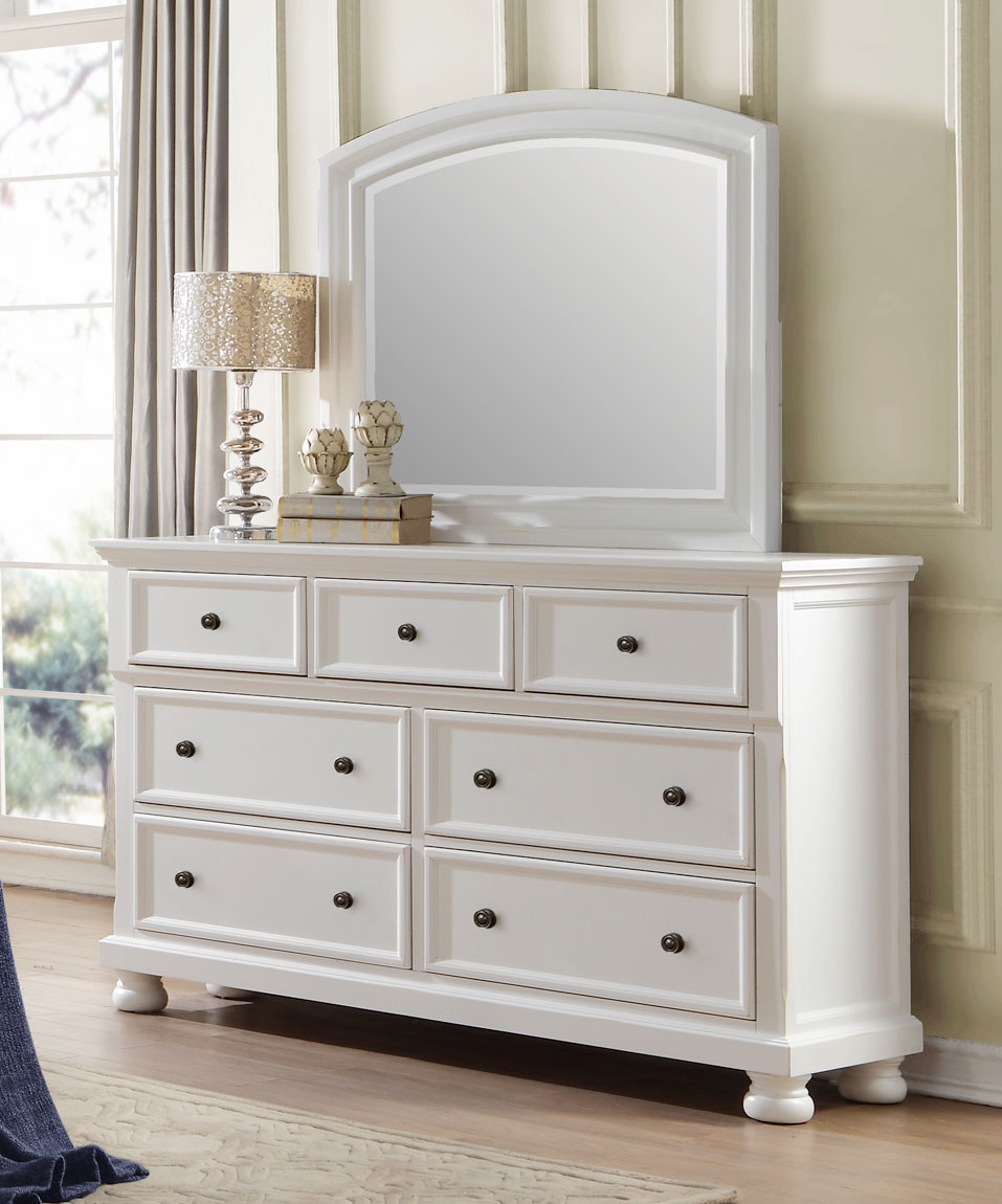 Homelegance Laurelin Dresser - White Sand-Thru