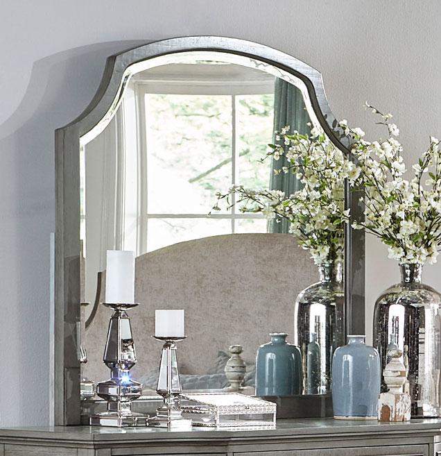 Homelegance Albright Mirror - Barnwood Grey