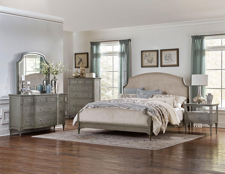 Homelegance Albright Upholstered Bedroom Set - Barnwood Grey