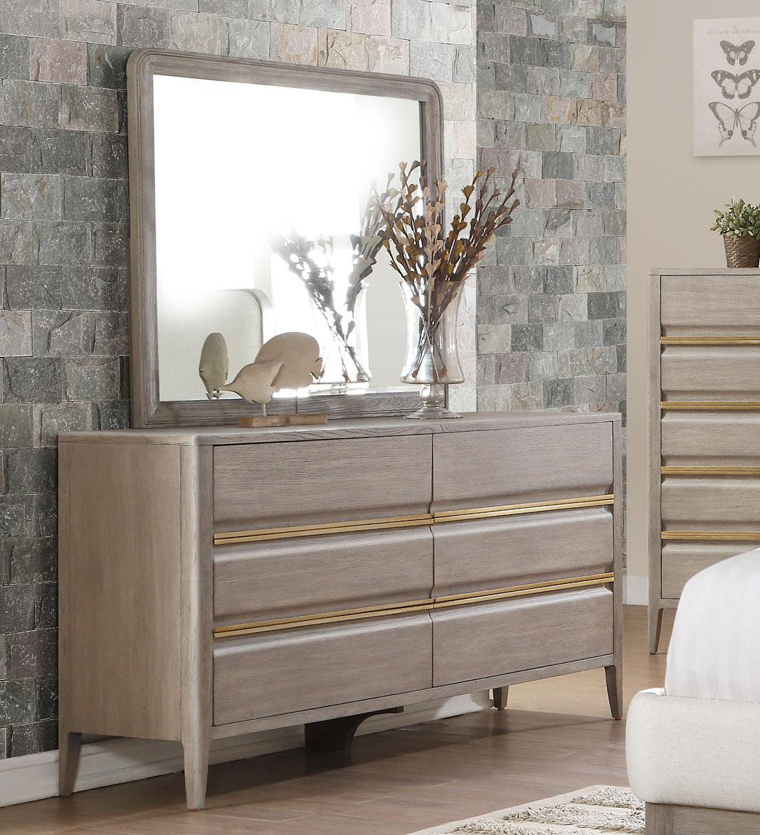 Homelegance Aristide Dresser - Gold and Weathered Grey
