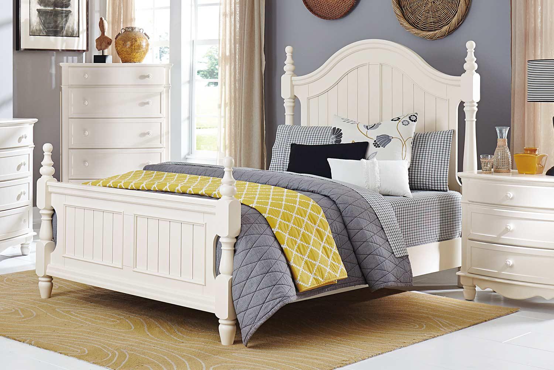 Homelegance Clementine Bed - White