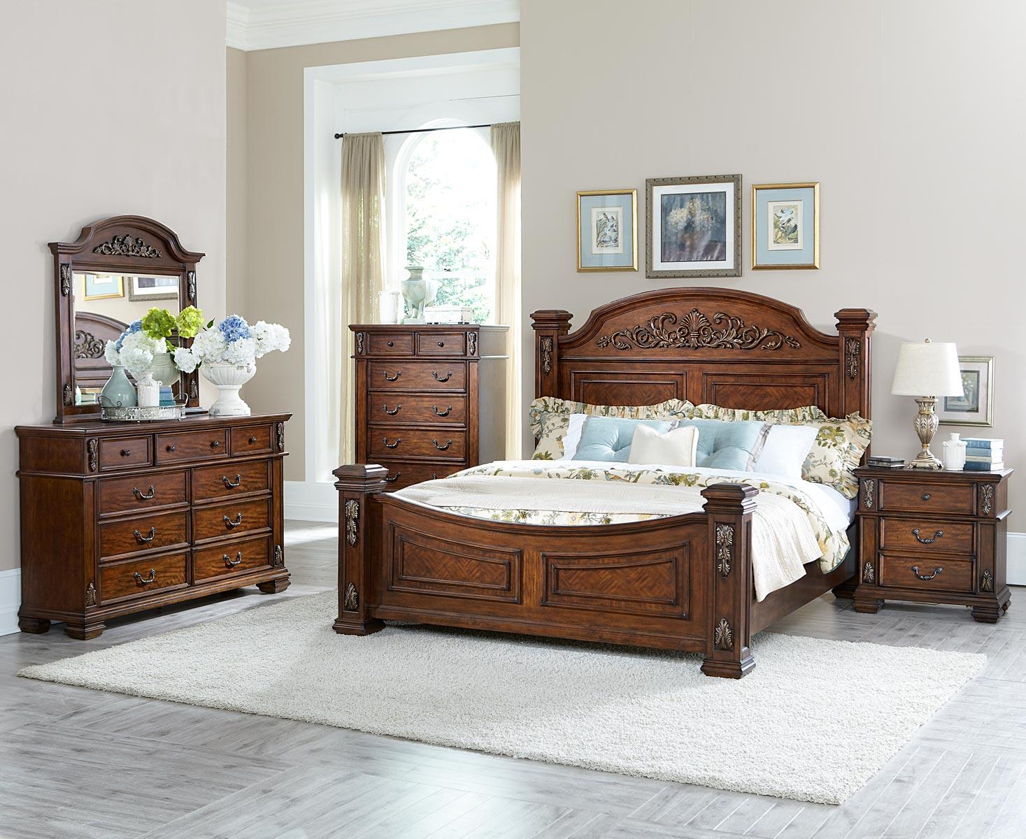 Homelegance Donata Falls Bedroom Set - Warm Brown