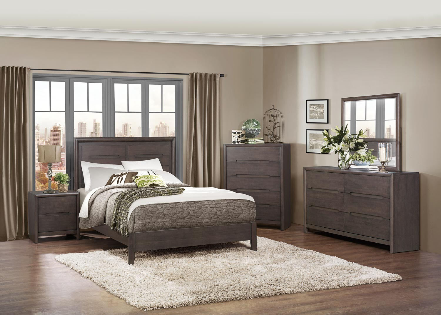 Homelegance Lavinia Bedroom Collection - Weathered Grey 1806-Bed-Set ...