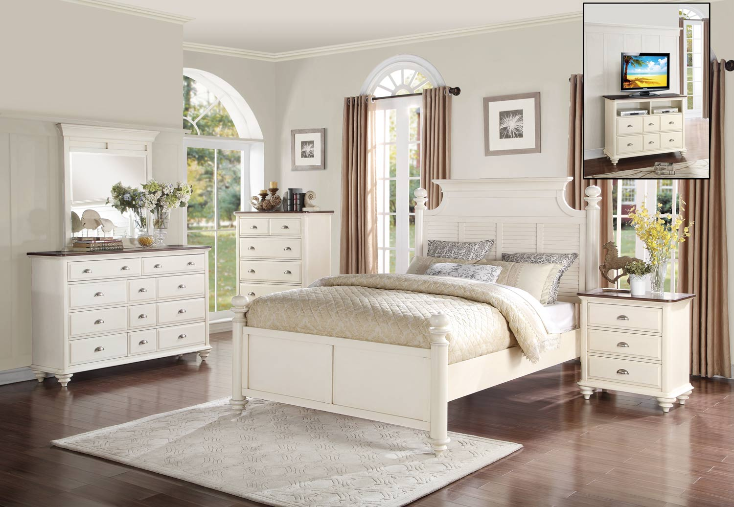 Homelegance Floresville Bedroom Set - Antique White