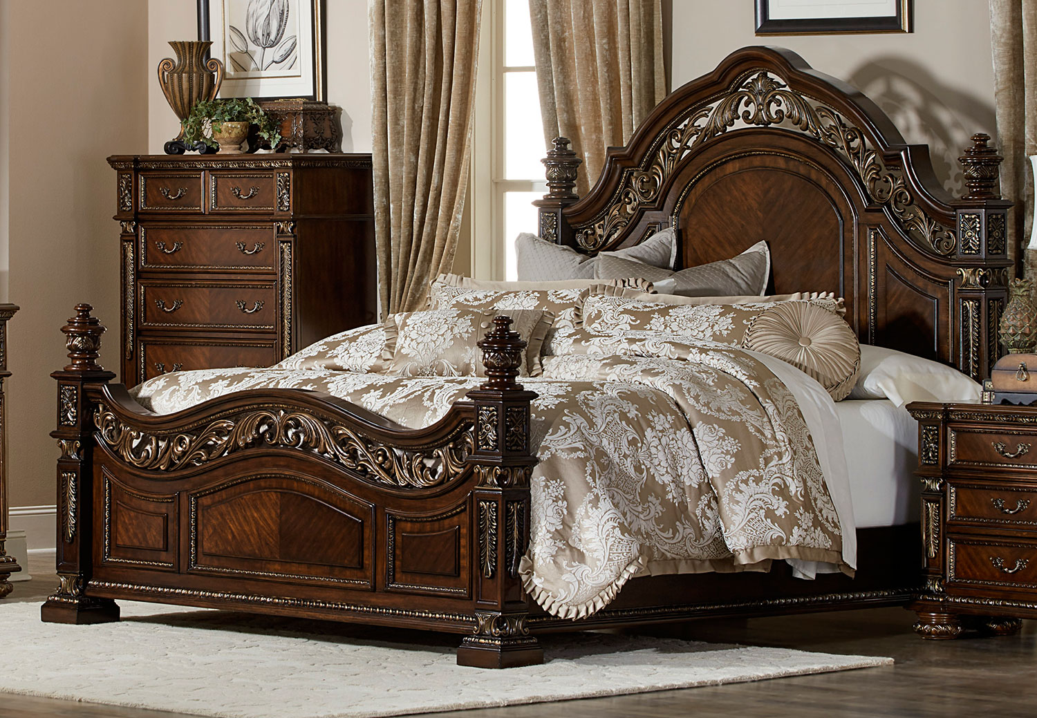 Homelegance Catalonia Bed Cherry